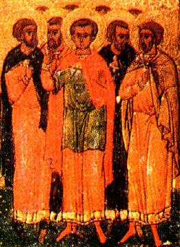 Άγιος Αγάπιος και των συν αυτώ μάρτυρες: Πλήσιος, Ρωμύλος, Τιμόλαος, Αλέξανδρος, Αλέξανδρος (έτερος), Διονύσιος καί Διονύσιος (έτερος)