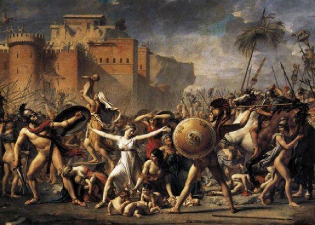 «Η αρπαγή των Σαβίνων», πίνακας του Ζακ Λουί Νταβίντ στο Λούβρο.