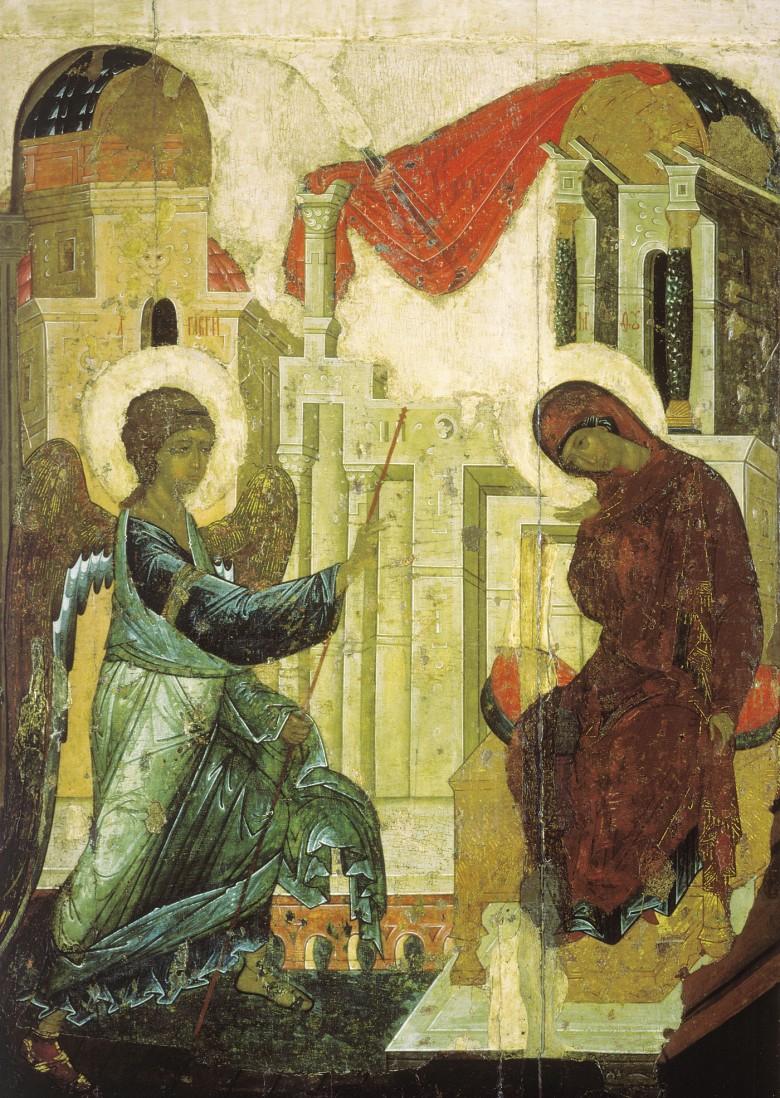 Ευαγγελισμός της Υπεραγίας Θεοτόκου, Αντρέι Ρουμπλιόβ, Ναός του Ευαγγελισμού, 1405
