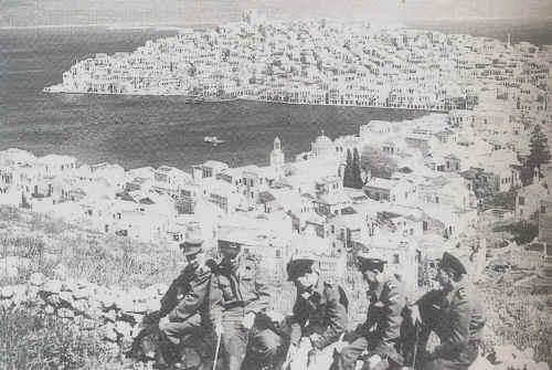 Βρετανοί στρατιώτες στο καστελόριζο το 1944