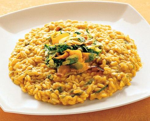 Risotto with tahini sauce aladoto
