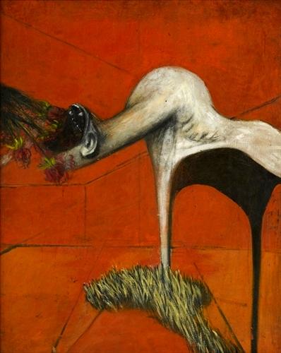 Σπουδή για φιγούρα με βάση τον πίνακα Crucifixion, Francis Bacon