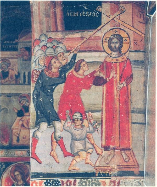 ο εμπαιγμός του Χριστού, τοιχ.Ι.Μ.Μεταμορφώσεως Μετεώρων